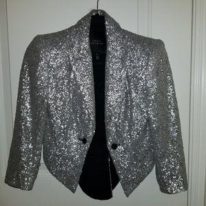 Robert Rodriguez Silver Sequin jacket